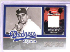 2006 Fleer Greats of the Game Dodgers Greats Pee Wee Reese Jersey #LADPR *67287