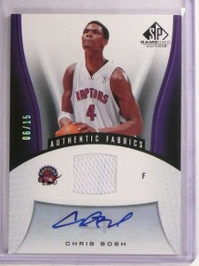 2006-07 SP Game Used Fabrics Chris Bosh Jersey Autograph #D06/15 #191 *66751