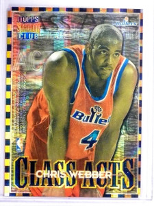 1996-97 Stadium Club Class Acts Atomic Refractor Chris Webber Howard #CA4 *64259