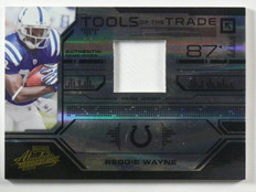 2008 Playoff Absolute Tools Of Trade Reggie Wayne Prime Patch #D01/50 *40207