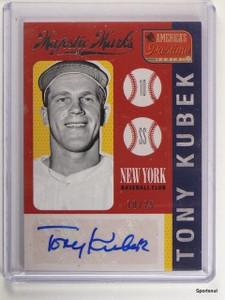 2013 America's Pastime Majestic Marks Tony Kubek autograph auto #D10/25 *43385