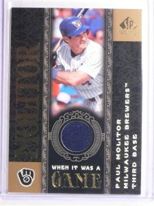 2007 UD SP Legendary Cuts When It Was a Game Paul Molitor Jersey #WGPM *67278