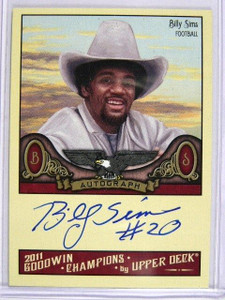 2011 Upper Deck Goodwin Champions Billy Sims auto autograph #A-BS *29021