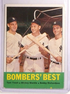 1963 Topps Bomber's Best Tresh Richardson Mickey Mantle #173 VG-ex *66860