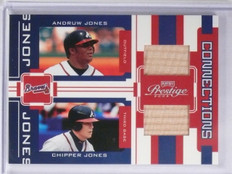 2005 Playoff Prestige Connections Andruw Chipper Jones Dual Bat #D204/250 *65103
