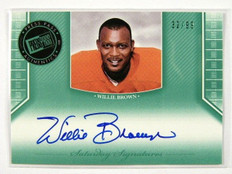 2011 Press Pass Saturday Willie Brown auto autograph #d32/99 *28610