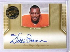 2011 Press Pass Legends Willie Brown auto autograph #SS-WB *27917