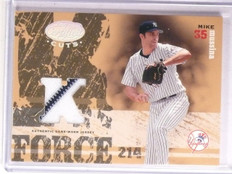 2004 Leaf Certified Cuts K-Force Mike Mussina Jersey #D08/25 #KF33 *67258