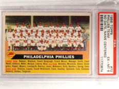1956 Topps Phillies Team No Date Name Centered #72 PSA 6 EX-MT *66716