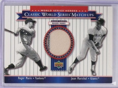 2002 Upper Deck World Series Heroes Matchups Roger Maris Jersey #MU62 *58862