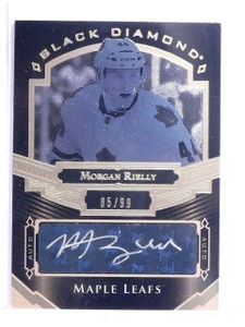 2016-17 UD Black Diamond Pure Black Morgan Rielly Autograph #D85/99 #BDBMR *6429