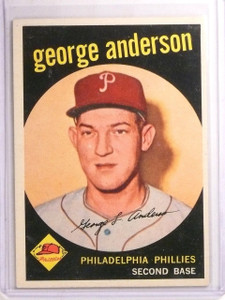 1959 Topps Sparky George Anderson Rookie RC #338 EX-MT *66865