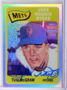 2001 Topps Archives Reserve Tug Mcgraw auto autograph #ARA23 *41759