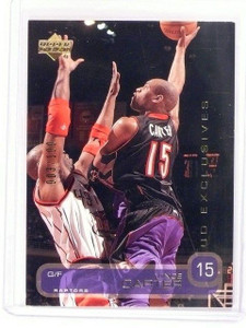 2002-03 Upper Deck Vince Carter UD Exclusives Gold #d003/100 *45984