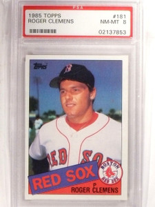 1985 Topps Roger Clemens Rookie RC #181 PSA 8 NM-MT *66725