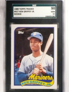 1989 Topps Traded Ken Griffey Jr. Rookie RC #41T SGC 98 Gem 10 *66712