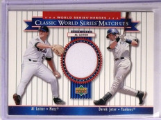 2002 Upper Deck World Series Heroes Classic Match-Ups Jeter Leiter Jersey *67237
