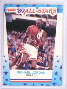 1989-90 Fleer Stickers Michael Jordan #3  *61442
