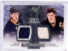 15-16 Leaf Ultimate Dual Zack Eichel & Mario Lemieux jersey #D10/25 *53469