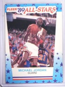 1989-90 Fleer Stickers Michael Jordan #3  *61304