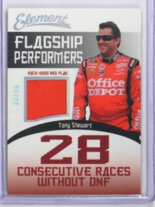 2011 Element Flagship Performers Streak Tony Stewart flag #D33/50 *33585