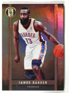 11-12 Panini Gold Standard Platinum Gold James Harden #D02/10 #115 *40393