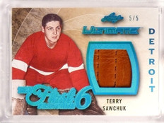 2015-16 Leaf Ultimate First 6 Franchise Terry Sawchuk goalie pad #D5/5 *53272