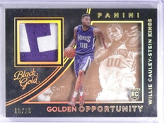 2015-16 Black Gold Opportunity Willie Cauley-Stein Rookie Patch #D10/25   *62166