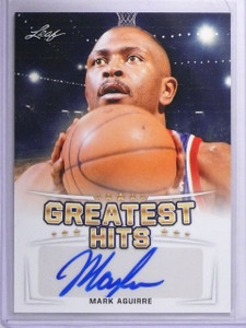 2016 Leaf Greatest Hits Mark Aguirre Autograph #GHMA1  *62147