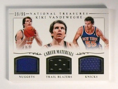13-14 National Treasures Career Materials Kiki Vandeweghe jersey #D39/99 *46781