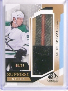 15-16 Sp Game Used Supreme Stick Jason Spezza #D06/15 #PA-JS *53569