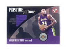 2001-02 Topps Pristine Shaquille O'Neal Portions Jersey Lakers *45555