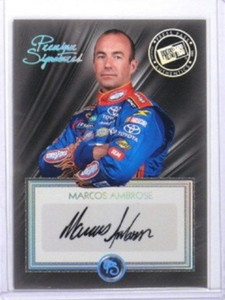 2010 Press Pass Premium Signatures Marcos Ambrose auto autograph *33577
