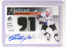 11-12 Sp Game Used Numbers Steven Stamkos autograph auto jersey #D21/91 *52171