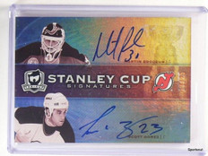 09-10 Upper Deck The Cup Martin Brodeur & Scott Gomez autograph #D17/25 *43319