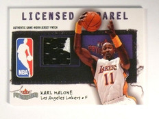 03-04 Fleer Patchworks Nameplate Licensed Karl Malone 2clr patch #D38/50 *46699