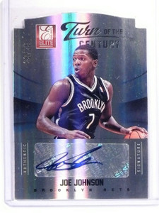 2012-13 Elite Joe Johnson Turn Century Autograph Auto #D22/25 #50 *52722
