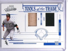2005 Absolute Tools of Trade Carlton Fisk Dual Bat Jersey #D110/150 #TT72 *60056