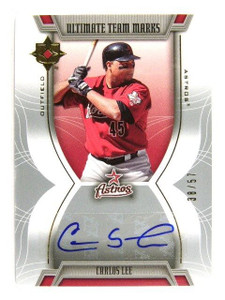 2007 Ultimate Collection Carlos Lee auto autograph #D38/57 *29982