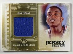 2012 Sportkings Memorabilia Jersey Silver Isiah Thomas #SM-11 *40360