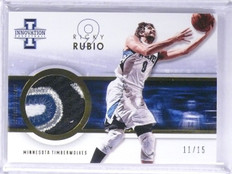 2012-13 Panini Innovation Ricky Rubio Prime 4 color patch #D11/15 #17 *55917