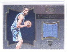 2015-16 Panini Select Karl-Anthony Towns rookie jersey #D84/149 #5 *55794
