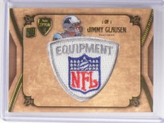 2010 Topps Supreme Jimmy Clausen rc rookie NFL logo patch #D 1/1 *49318
