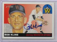 2004 Topps Heritage Real Ones Bob Kline auto autograph #RO-BK *38060