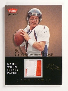 2004 Fleer Greats Glory Of Their Time John Elway 2clr patch #D22/25 *50106