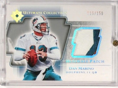 2004 Ultimate Collection Dan Marino 3clr patch #D115/150 #UP-MA *50046