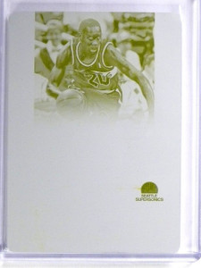 2014-15 National Treasures Gary Payton 1/1 Yellow Printing Plate #SMGP *56990
