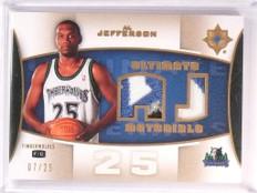 2007-08 UD Ultimate Collection Al Jefferson Jersey Patch #D07/25 #ULT-AL *50861