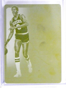 2014-15 National Treasures Julius Erving 1/1 Yellow Printing Plate #GLJE *56989