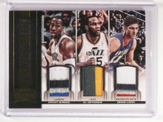12-13 Threads Dwight Howard Jefferson Brook Lopez triple patch #D24/25 *50573